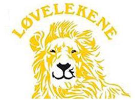 """Tegning av løve med tekst """"Løvelekene"""" over. illustrasjon"""